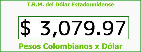 T.R.M. del Dólar para hoy Martes 1 de Septiembre de 2015