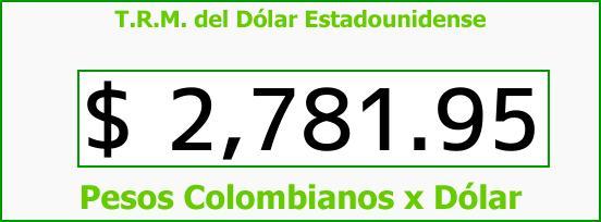 T.R.M. del Dólar para hoy Martes 10 de Abril de 2018