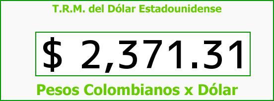 T.R.M. del Dólar para hoy Martes 10 de Febrero de 2015