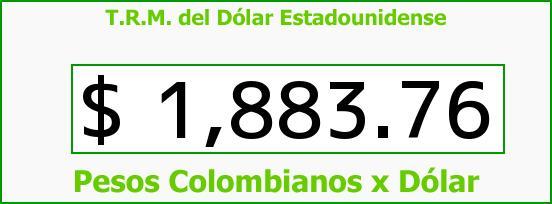 T.R.M. del Dólar para hoy Martes 10 de Junio de 2014