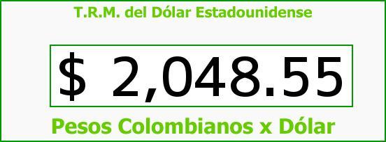 T.R.M. del Dólar para hoy Martes 11 de Febrero de 2014