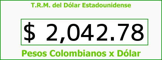T.R.M. del Dólar para hoy Martes 11 de Marzo de 2014