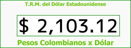 T.R.M. del Dólar para hoy Martes 11 de Noviembre de 2014