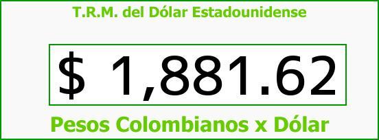 T.R.M. del Dólar para hoy Martes 12 de Agosto de 2014