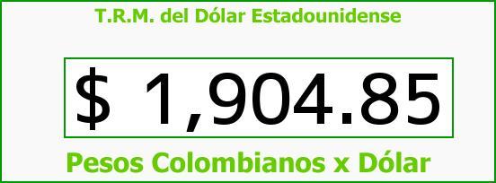 T.R.M. del Dólar para hoy Martes 13 de Mayo de 2014