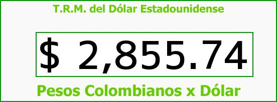 T.R.M. del Dólar para hoy Martes 13 de Octubre de 2015