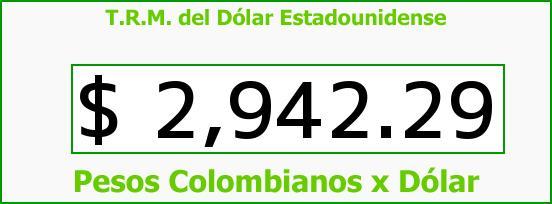 T.R.M. del Dólar para hoy Martes 13 de Septiembre de 2016