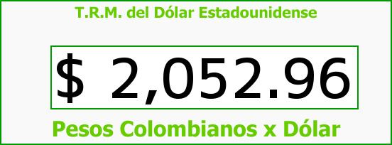 T.R.M. del Dólar para hoy Martes 14 de Octubre de 2014