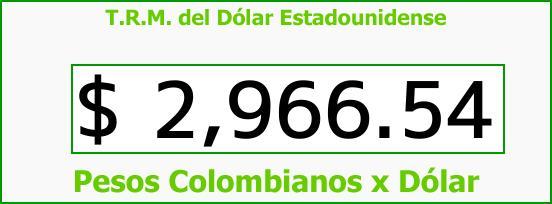 T.R.M. del Dólar para hoy Martes 15 de Agosto de 2017