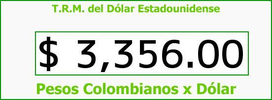 T.R.M. del Dólar para hoy Martes 15 de Diciembre de 2015