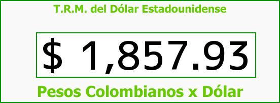 T.R.M. del Dólar para hoy Martes 15 de Julio de 2014