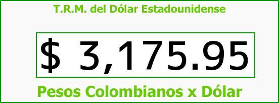 T.R.M. del Dólar para hoy Martes 15 de Marzo de 2016