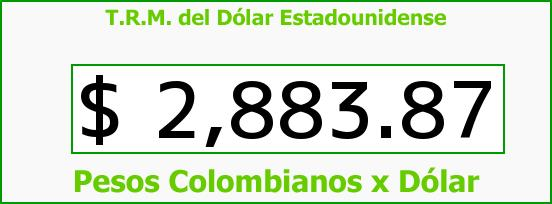 T.R.M. del Dólar para hoy Martes 16 de Mayo de 2017