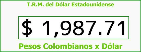 T.R.M. del Dólar para hoy Martes 16 de Septiembre de 2014