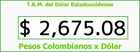 T.R.M. del Dólar para hoy Martes 17 de Marzo de 2015