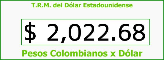 T.R.M. del Dólar para hoy Martes 18 de Febrero de 2014
