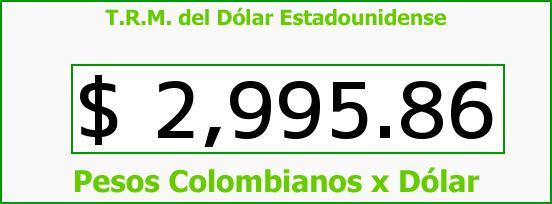 T.R.M. del Dólar para hoy Martes 19 de Abril de 2016