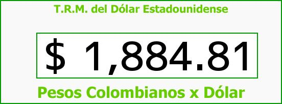 T.R.M. del Dólar para hoy Martes 19 de Agosto de 2014