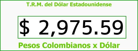 T.R.M. del Dólar para hoy Martes 19 de Diciembre de 2017