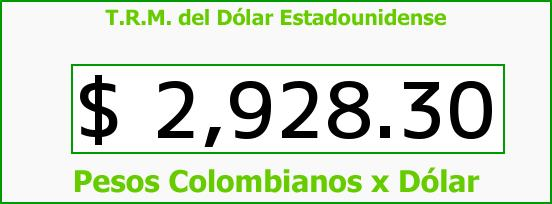 T.R.M. del Dólar para hoy Martes 19 de Julio de 2016