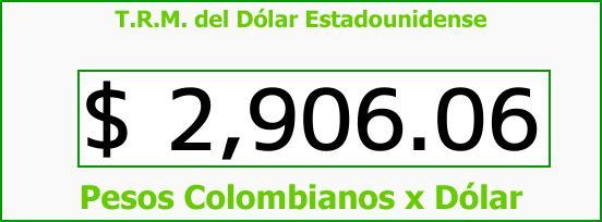 T.R.M. del Dólar para hoy Martes 19 de Septiembre de 2017