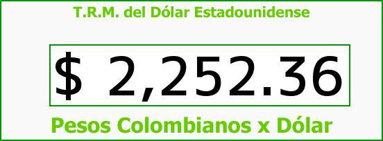 T.R.M. del Dólar para hoy Martes 2 de Diciembre de 2014