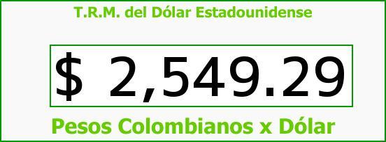 T.R.M. del Dólar para hoy Martes 2 de Junio de 2015