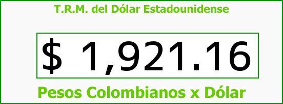 T.R.M. del Dólar para hoy Martes 20 de Mayo de 2014