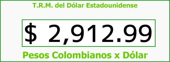 T.R.M. del Dólar para hoy Martes 20 de Octubre de 2015