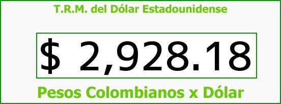 T.R.M. del Dólar para hoy Martes 20 de Septiembre de 2016