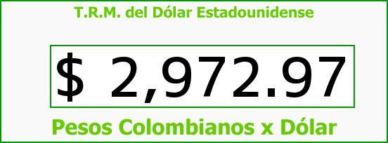 T.R.M. del Dólar para hoy Martes 21 de Junio de 2016