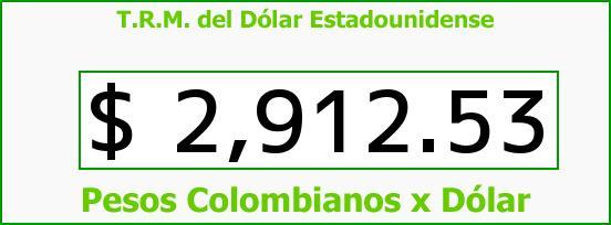 T.R.M. del Dólar para hoy Martes 21 de Marzo de 2017