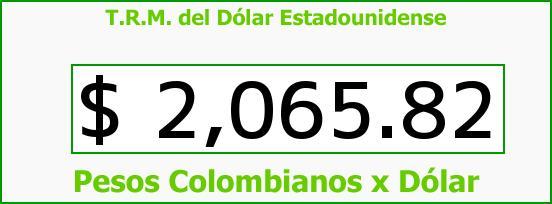 T.R.M. del Dólar para hoy Martes 21 de Octubre de 2014