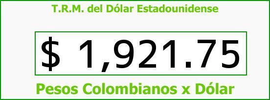 T.R.M. del Dólar para hoy Martes 22 de Abril de 2014