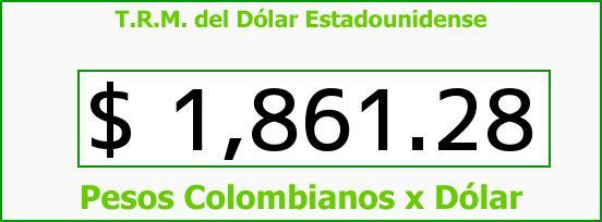 T.R.M. del Dólar para hoy Martes 22 de Julio de 2014