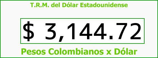 T.R.M. del Dólar para hoy Martes 22 de Noviembre de 2016