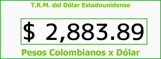 T.R.M. del Dólar para hoy Martes 23 de Agosto de 2016