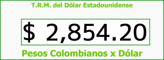 T.R.M. del Dólar para hoy Martes 23 de Enero de 2018