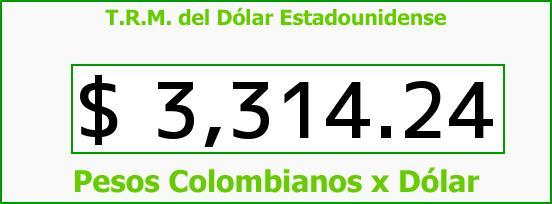 T.R.M. del Dólar para hoy Martes 23 de Febrero de 2016