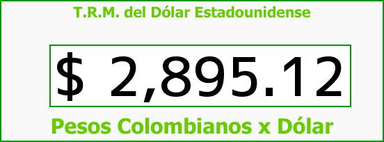 T.R.M. del Dólar para hoy Martes 23 de Mayo de 2017