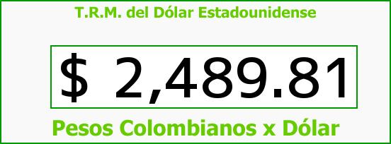 T.R.M. del Dólar para hoy Martes 24 de Febrero de 2015