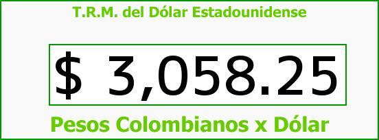 T.R.M. del Dólar para hoy Martes 24 de Mayo de 2016