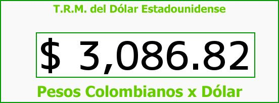 T.R.M. del Dólar para hoy Martes 24 de Noviembre de 2015