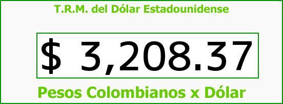 T.R.M. del Dólar para hoy Martes 25 de Agosto de 2015