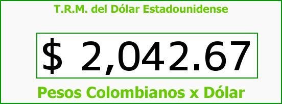 T.R.M. del Dólar para hoy Martes 25 de Febrero de 2014