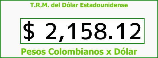 T.R.M. del Dólar para hoy Martes 25 de Noviembre de 2014
