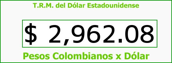 T.R.M. del Dólar para hoy Martes 26 de Abril de 2016