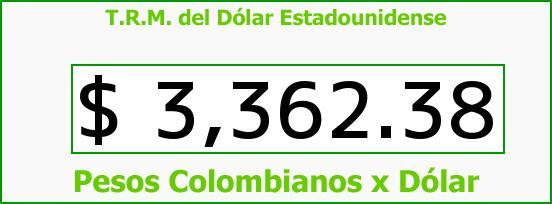 T.R.M. del Dólar para hoy Martes 26 de Enero de 2016