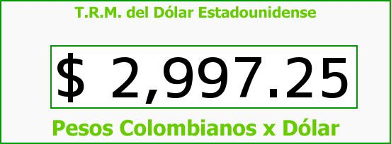 T.R.M. del Dólar para hoy Martes 26 de Julio de 2016