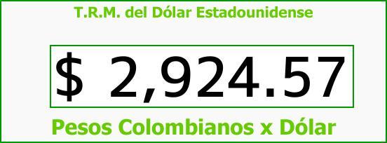 T.R.M. del Dólar para hoy Martes 26 de Septiembre de 2017